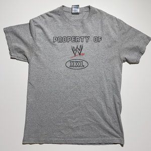Property of WWE T Shirt Large Heather Gray Short S